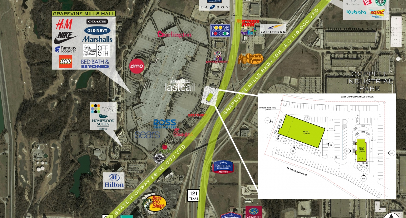 Grapevine Mills Ring Road – Woodmont